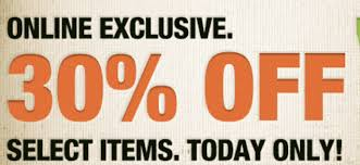 home depot black friday march home depot 30 off select items coupon code today only saving