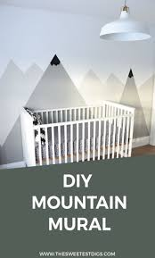 how to paint a diy mountain mural no art skills required the a diy mountain mural