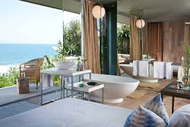 Oceanview House Plans Open Plan Bathroom With An Ocean View Sa Garden And Home