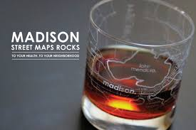 Madison Map Madison Map Rocks Glass Theuncommongreen