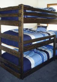 Welcome To Way Out Bunk Beds - Triple bunk beds with mattress