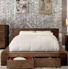 King Platform Bed With Drawers by Janeiro Modern Low Profile Platform Bed With Drawers