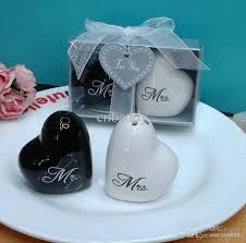 wedding souvenirs wedding favors and souvenirs heart shaped mr mrs ceramic salt