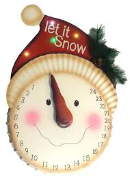 21 led lighted let it snow snowman face christmas countdown advent