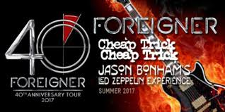foreigner cheap trick and jason bonham announce 2017 tour