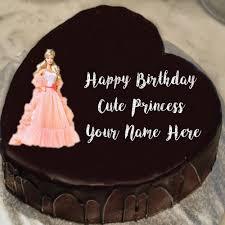 princess barbie doll birthday cake wishes image