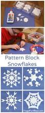 math art make pattern block snowflakes geometry activities