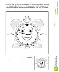 dot coloring pages dot to dot and coloring page with alarm clock stock vector image