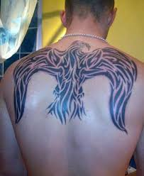 tribal back bird tattoo tattoo shortlist