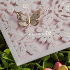 wrap design laser cut wedding birthday invitation card with 3d