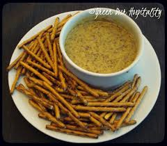 honey mustard pretzel dip simple appetizer alert honey mustard dressing with pretzels green
