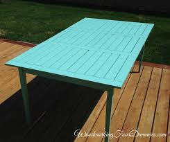 diy patio table woodworking4dummies