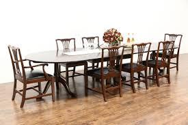Dining Room Table Kits Banquet Size Mahogany Triple Pedestal 12 U0027 4