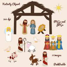 nativity clipart print on magnet sheets for the fridge