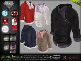 second life marketplace laurens sweater hoodie male mens top