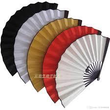 cheap fans blank white folding silk fan diy performance props