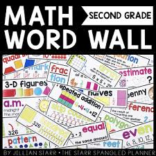 math word wall 2nd grade common core aligned by jillian starr tpt