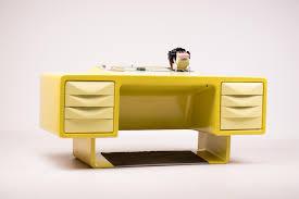 Chef Schreibtisch Vintage Glasfaser Chefschreibtisch Von Ernest Igl Für Wilhelm