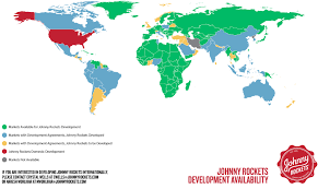 Where Is Venezuela On A Map Johnny Rockets Franchising International Development