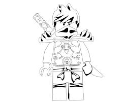 lego ninjago kai ninja with sword coloring page printable
