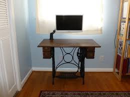 Dark Wood Computer Desk Dark Wood Table On A Sewing Machine Base Jay U0027s Technical Talk