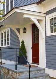Small Awnings Over Doors Blue Exterior Love The Rich Pop Of The Door Could See