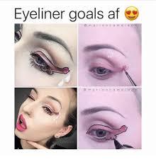 Eyeliner Meme - eyeliner goals af m a r i o n c a m e l e o n m a r i o n c a