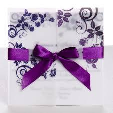 gatefold wedding invitations classic purple gate fold ribbon wedding invitations ewri004 as low