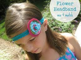 elastic headband elastic headband with flower the sewing loft