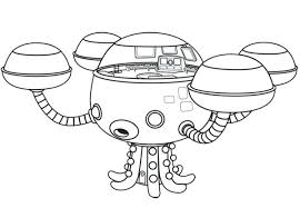 Coloring Pages Octonauts The Meet Giant Squid Coloring Page Disney Octonauts Coloring Pages