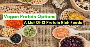 vegan protein options a list of 12 protein rich foods