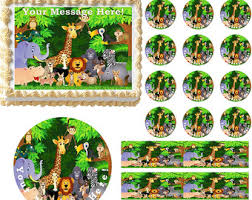 safari cake toppers jungle cake topper etsy