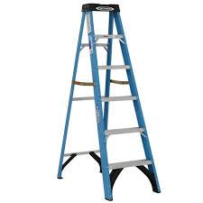 werner 6 ft fiberglass step ladder with 250 lb load capacity