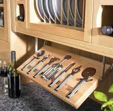 home organization small brown kitchen cabinet with unique