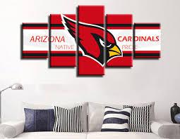 arizona home decor 5 pieces arizona cardinals red bird canvas painting wall art