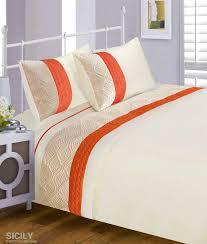 orange duvet cover double bed duvet quilt cover bedding set