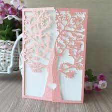 ceremony cards 50pcs lot glitter paper beautiful flower with tree birthday paty