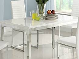 Amazoncom Homelegance Clarice Chrome Dining Table  Table - Chrome kitchen table