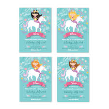 mermaid unicorn invitation printable customized diy invitation