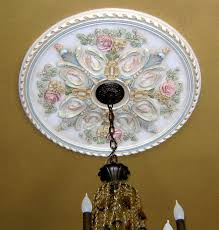 painted ceiling medallion by jeff huckaby jh studio ornamental