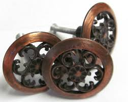 Peacock Drawer Knobs Pulls Handles  Kitchen Cabinet By LBFEEL - Copper kitchen cabinet hardware