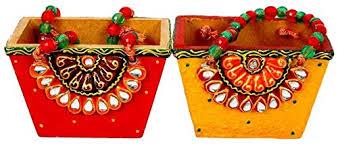 paper mache earrings handmade paper mache set of 2 basket shape utility basket for pen