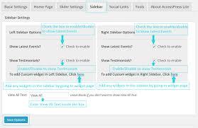 right sidebar 1 free theme accesspress lite documentation