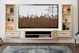 White Shabby Chic Bookcase by Floating Tv Stands Alternative To Tv Stand Floating Tv Panels