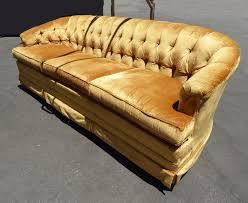 Vintage Mid Century Sofa Vintage Mid Century Modern Gold Tufted Velvet Sofa Couch Hollywood