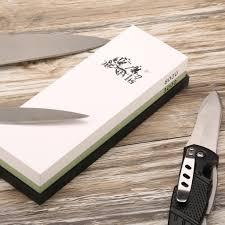 sharpening stone kitchen knives grinder 3000 8000 grit combination corundum whetstone knife