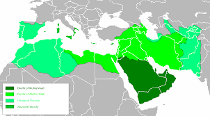 arab map chronological map of the arab empire 632 945