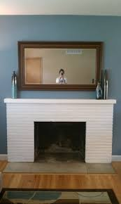 breathtaking white painted fireplace mantel also square wall