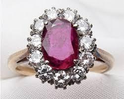 ruby diamond ring midcentury ruby diamond halo ring ruby diamond engagement ring
