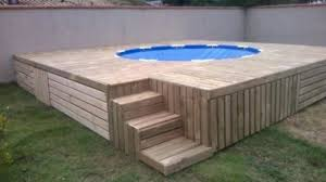 outdoor floating swimming pool deck